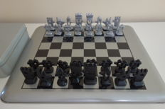 Chess set designed by Mariscal, Olympic Games, Barcelona 1992