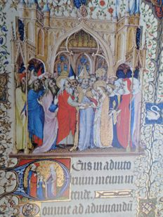 Books of Hours; Marcel Thomas (explanation) - The grandes heures of Jean, Duke of Berry (15th centuty) - 1971