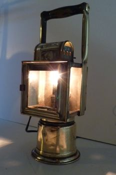 Railroad Carbite signaling lantern - Table light - K.V.N Steampunk.