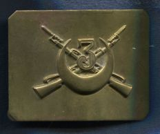 Buckle. Spanish Civil War. Nationalist Army. 3rd Battallion of Regulares (Colonial Troops).