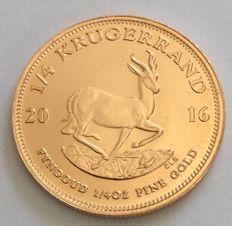 South Africa – ¼ Krugerrand 2016 – ¼ oz Gold
