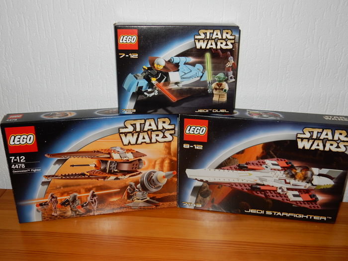 Starwars - 7103 + 7143 + 4478 - Jedi Duel + jedi Starfighter + Geonosian Fighter