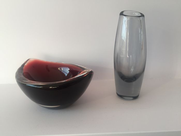 Sven Palmqvist Orrefors Sweden Vase And Bowl Catawiki