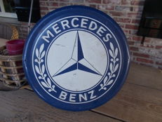 Mercedes advertising sign in good condition, 1970s