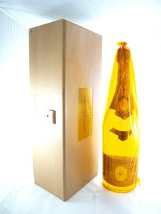1999 Cristal Louis Roederer -Champagne - 1 Jeroboam (3L) with wooden box