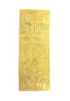 Rare Original Gold Bar/Leaf, Vietnam KIM-THANH