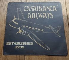 Old advertising sign - Casablanca  Airways established 1932