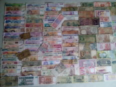 World - 235 world banknotes + Zimbabwe 10 TRILLION 10,000,000,000,000 dollars 2008