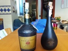2 Bottles of Cognac - Gaston de Lagrange V.S.O.P. 150cl & Otard X.O. 70cl -  Bottled 1970s