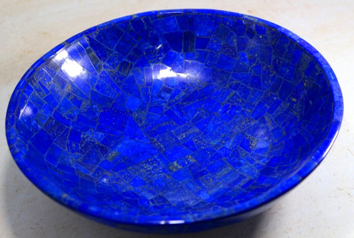 hand crafted royal blue lapis lazuli bowl 205 x 205 x 60mm 800gm catawiki. Black Bedroom Furniture Sets. Home Design Ideas