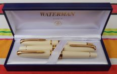 Waterman Charleston Set (3x) Ivory-Gold Rare
