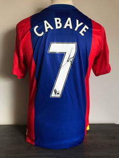 Cabaye Crystal Palace home shirt 2016-2017 + photo of the signing time + certificate of authenticity