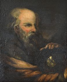 Old Master (18/19th century) - Old man with a glass ball.