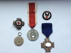 Badge of honour of the Prussian national association of the Red Cross, faithful service medal 2nd class