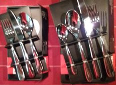 Alessi cutlery and dessert cutlery, 42 pieces, 6 people, design Ettore Sottsass