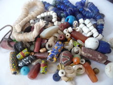 Beautiful Lot of all Antique West African Trade Beads, Different sizes and manufacture