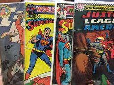 Collection Of Silver And Golden Age Comics! - Avengers - Captain Marvel - Worlds finest comics - Justice League America - x5 SC (1946/1971)