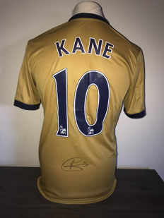 Tottenham alternative 2016-2017 shirt personally signed by Harry Kane