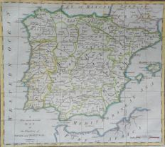 Spain and Portugal; Cary, Rapkin, Vuillemin & Dufour - 4 maps - 1790 / 1842 / 1852 / 1865