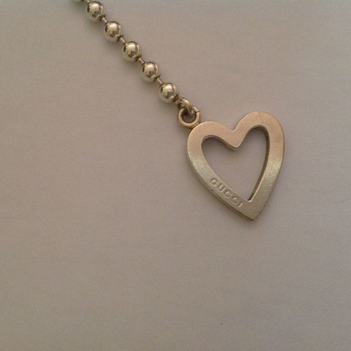 4eecc418284c2 Gucci - 925 silver bracelet with heart - Length  21 cm with heart ...