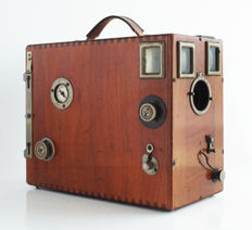 Falling plate camera, rare, luxury wood, with 7 plates (film holders) unknown brand