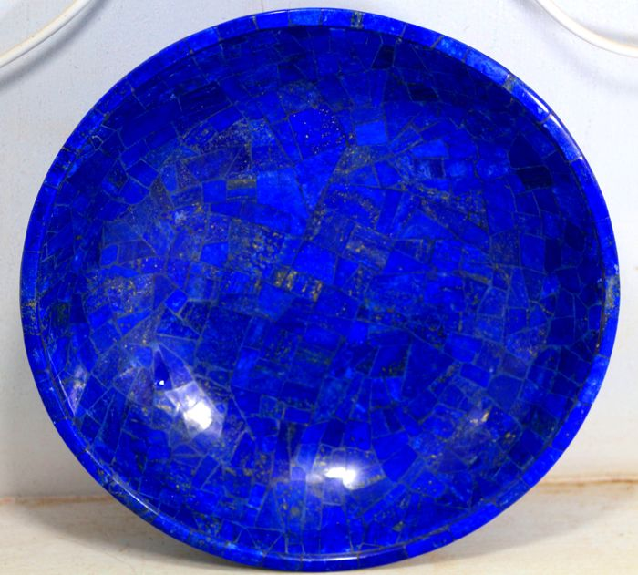 hand crafted royal blue lapis lazuli bowl 205 x 205 x 60mm 800 gm catawiki. Black Bedroom Furniture Sets. Home Design Ideas