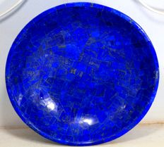 Hand-crafted Royal Blue Lapis Lazuli bowl - 205 x 205 x 60mm - 800gm