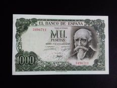 Spain- NO SERIAL - 1,000 pesetas 17/09/1971 - Pick 154