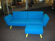"Nicolaus Maniatis for Pode – ""dr'op"" sofa with matching ottoman"
