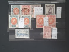 Belgium, 1910-1950, selection of Red Cross stamps and service stamps