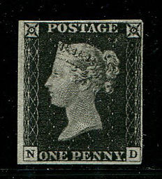 Great Britain Queen Victoria 1840 –Penny Black – Stanley Gibbons 2