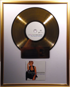 "Whitney Houston - The Ultimate Collection  - 12"" german Arista Sony gold plated record by WWA Awards"