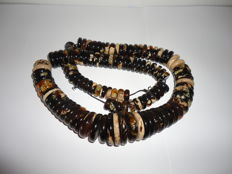 Large Amber necklace of Indonesian Amber,  262 Gram