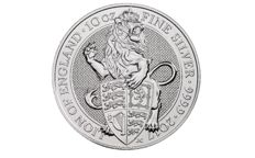 10 Troy ounce zilveren munt Queens Beasts Lion