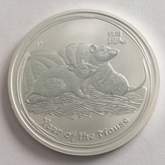 "Australia - 1 dollar 2008 ""Year of the Mouse"" - 1 oz silver"