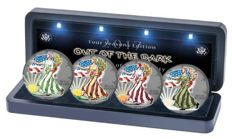 USA – 1 dollar 2017 'Four Seasons Edition / Out of the Dark' ruthenium colour set – silver