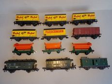 Fleischmann H0 -  11 Freight Wagons / Passenger / Luggage Carriages.