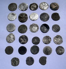Polish - Lot 28 pcs. - XVI/XVII Century - Silver