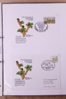 Federal Republic of Germany 1980/1998 – Topical Collection, Gardens and Trees, in Six Ring Binders