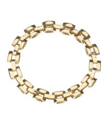 Ring - 14 kt yellow gold - inner size: 20.75 mm