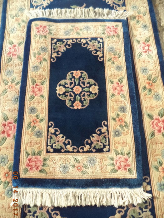 Chinese Hand Knotted Wool Rugs.2 Pcs Beautiful Chinese Hand Knotted Wool Carpets 180cmx92cm