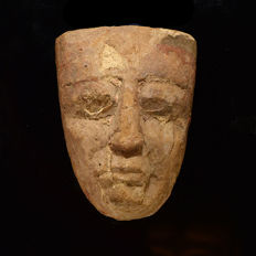 An Egyptian Anthropoid Wood Mask - 15,9 cm