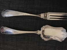 Silver ginger cutlery, the Netherlands, 1867