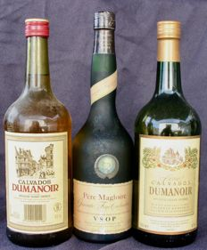 3 bottles of Calvados 2 bottles 1L of Dumanoir & 1 bottle 70 cl Père Magloire VSOP