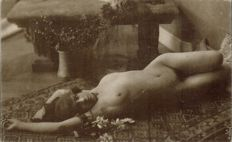 Lot of 21 postcards early 1900 of Italian and French female nudes - Eroticism
