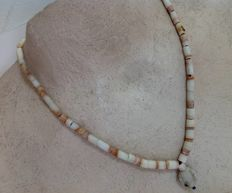 Cord of excavation beads from Afghanistan, approx. 40 cm