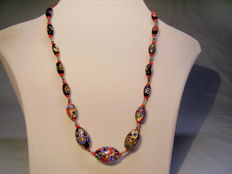 Murano necklace with coloured glass - Murinne