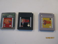 Lot of 3 nintendo Gameboy Zelda games. .Like Zelda Seasons, Zelda DX ,Links awakening.