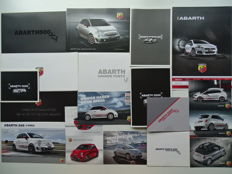 2008 - 2015 - ABARTH Fiat 500C, 695 Tributo Ferrari, Grande Punto, 595 Yamaha, 695 Biposto, Punto Evo, 595 Competizione - mixed lot of 18 original sales brochures & postcards