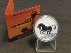 Australia - $1 - Perth Mint stock horse / stock horse 2017 - Edition only 10,000 pieces